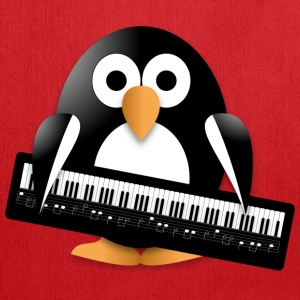 Penguin with a piano keyboard Bags & backpacks - Tote Bag