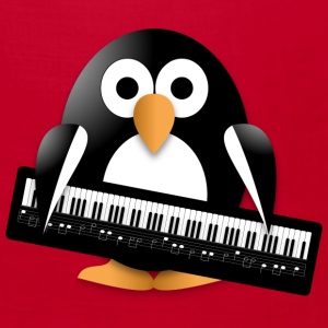 Penguin with a piano keyboard Caps - Bandana