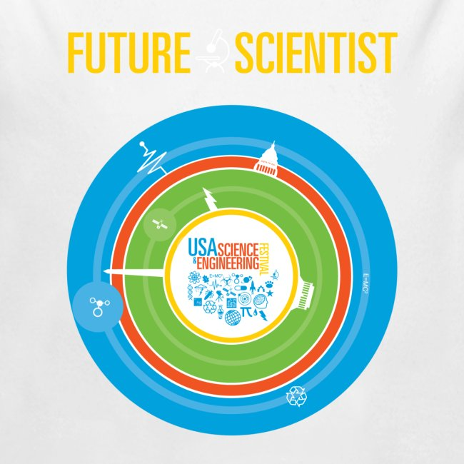 Baby Future Scientist Long Sleeve  (Front Design Only)