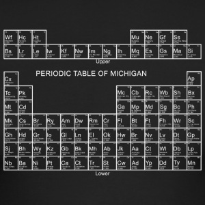 Periodic Table Of Michigan Long Sleeve Shirts - Men's Long Sleeve T-Shirt by Next Level