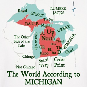 The World According To Michigan Hoodies - Men's Hoodie