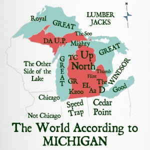 The World According To Michigan Bottles & Mugs - Travel Mug