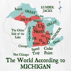 The World According To Michigan Kids' Shirts