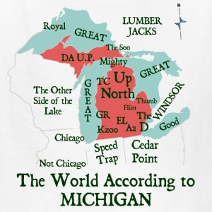 The World According To Michigan Kids' Shirts - Kids' T-Shirt