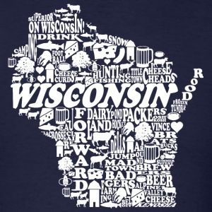 Wisconsin Words T-Shirts - Men's T-Shirt