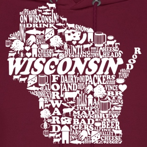 Wisconsin Words Hoodies - Men's Hoodie