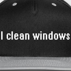 I clean windows Caps - Snap-back Baseball Cap