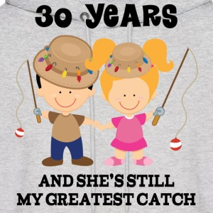 30 Year Anniversary Matching Couples Hoodies - Men's Hoodie
