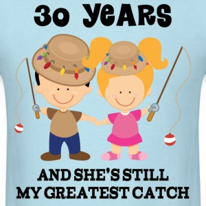30 Year Anniversary Matching Couples T-Shirts - Men's T-Shirt