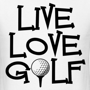Live, Love, Golf - Men's T-Shirt