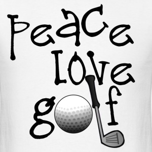 Peace, Love, Golf - Men's T-Shirt