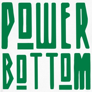 Power Bottom T-Shirts - Men's V-Neck T-Shirt by Canvas