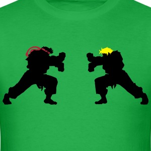 Ryu and Ken Hadouken Silhouettes T-Shirts - Men's T-Shirt