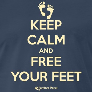 Keep Calm and Free Your Feet T-Shirts - Men's Premium T-Shirt