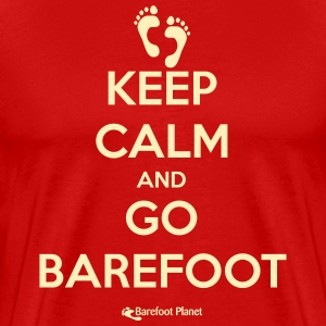 Keep Calm and Go Barefoot T-Shirts - Men's Premium T-Shirt