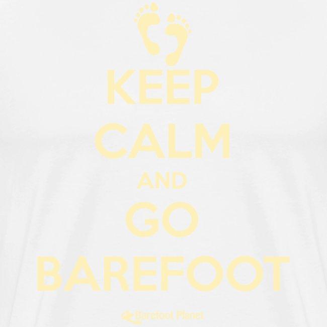 Keep Calm, Go Barefoot - Men's Tee