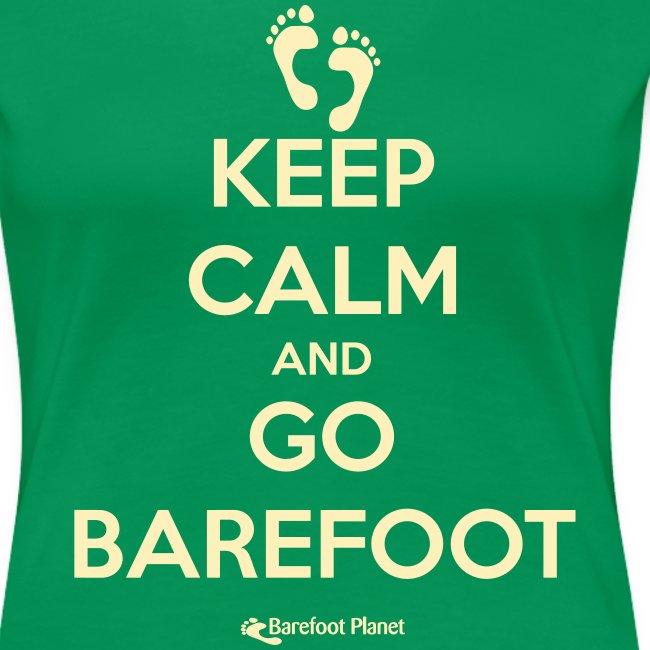 Keep Calm, Go Barefoot - Women's  Tee