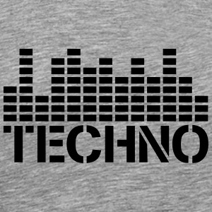 Techno Equalizer Logo T-Shirts - Men's Premium T-Shirt