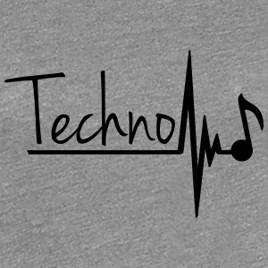 Techno Heartbeat Music Note Women's T-Shirts - Women's Premium T-Shirt