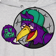 Design ~ The Fly HIgh Hoodie in Purple