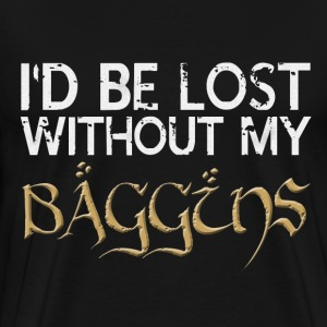 Lost Without My Baggins - Men's Premium T-Shirt