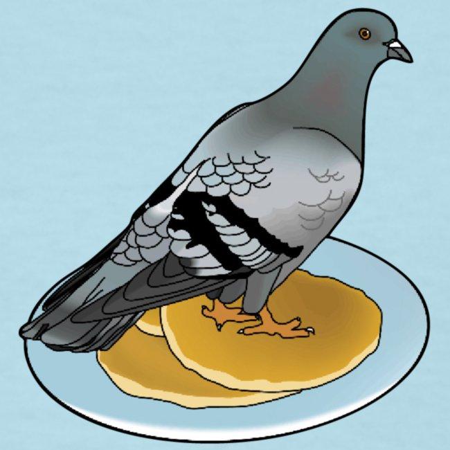 pigeon on a pancake