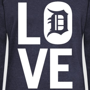 DETROIT LOVE Long Sleeve Shirts - Women's Wideneck Sweatshirt