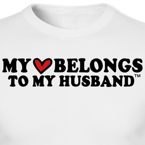 MY HEART BELONGS TO MY HUSBAND Long Sleeve Shirts - Men's Long Sleeve T-Shirt by Next Level