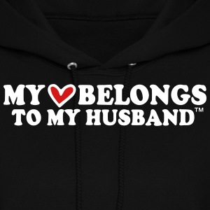 MY HEART BELONGS TO MY HUSBAND Hoodies - Women's Hoodie