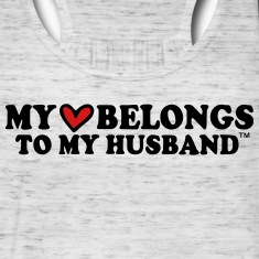 MY HEART BELONGS TO MY HUSBAND Tanks