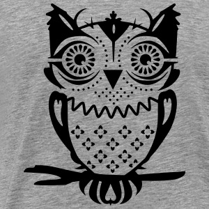 An owl sitting on a branch T-Shirts - Men's Premium T-Shirt