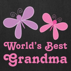 World's Best Grandma (butterfly) Bags & backpacks - Tote Bag