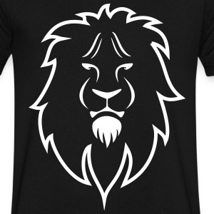 Lion - Leo - Men's V-Neck T-Shirt by Canvas