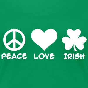 Peace love Irish Women's T-Shirts - Women's Premium T-Shirt