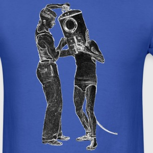 Shallow Water Helmet Diver with Assistant - Men's T-Shirt