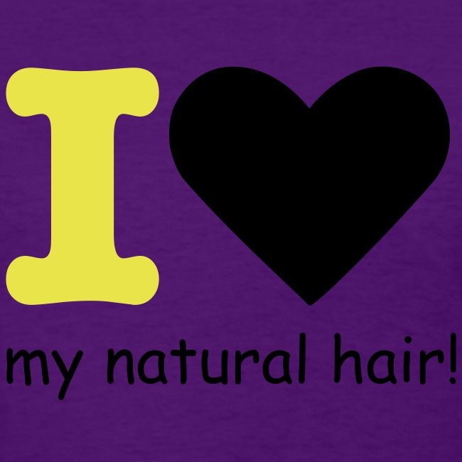 I love my natural hair - yellow and black