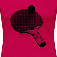 Design ~ I'd rather be playing ping pong (women's premium tee)