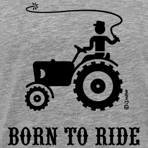 Born To Ride (Tractor) T-Shirt - Men's Premium T-Shirt