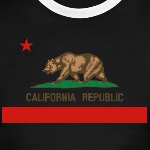 California Republic State Flag Mens Ringer T-shirt - Men's Ringer T-Shirt