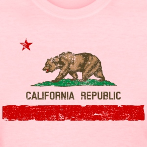 Vintage Distressed California State Flag Womens T- - Women's T-Shirt