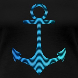 anchor of waves and sea Women's T-Shirts - Women's Premium T-Shirt