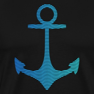 anchor of waves and sea T-Shirts - Men's Premium T-Shirt