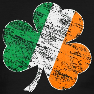 Vintage Distressed Irish Flag Shamrock Mens Ringer - Men's Ringer T-Shirt