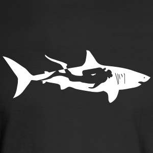 shark scuba diver diving whale dolphin manta Long Sleeve Shirts - Men's Long Sleeve T-Shirt