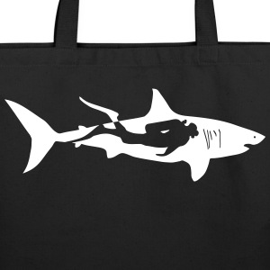 shark scuba diver diving whale dolphin manta Bags & backpacks - Eco-Friendly Cotton Tote