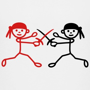 Fencing - 2 pirates - V2 Kids' Shirts - Kids' Premium T-Shirt