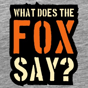 What Does The Fox Say Stamp Logo T-Shirts - Men's Premium T-Shirt