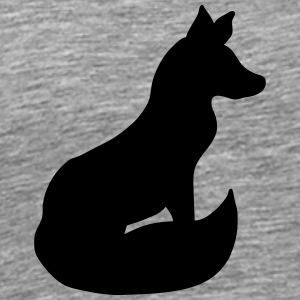 Sitting Fox Design T-Shirts - Men's Premium T-Shirt