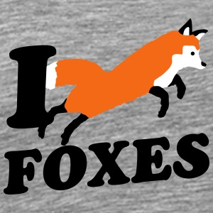 I Love Foxes T-Shirts - Men's Premium T-Shirt