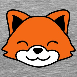 Cute Little Fox Child Face T-Shirts - Men's Premium T-Shirt